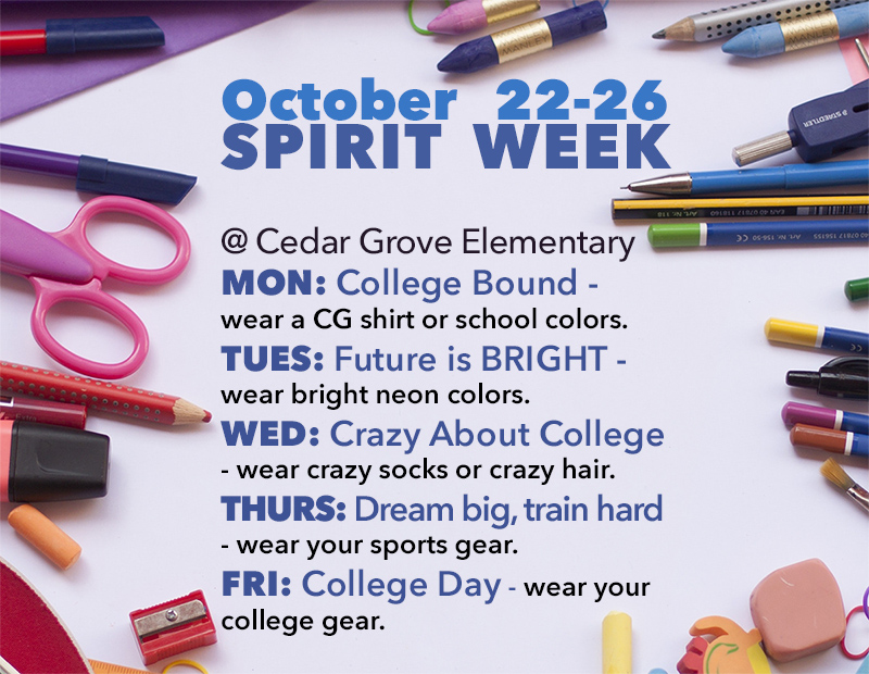 Spirit Week daily details